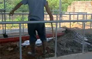 灵川陆屋搅拌拖泵施工