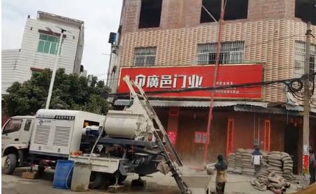 搅拌泵车视频