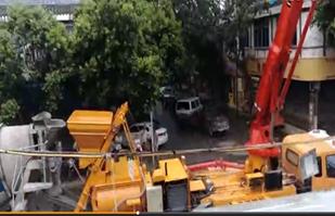 28米泵车商混施工视频