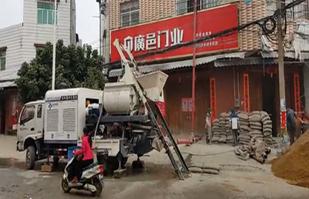 展升柴电车载搅拌泵施工