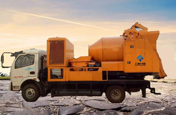 最新款滚筒搅拌车载泵