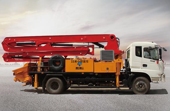 最新设计33米小型泵车